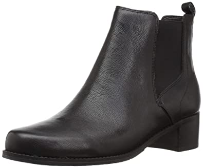 Easy Spirit Women s Niles Ankle Boot Black Leather 9 ... 1a1da02ebbdb