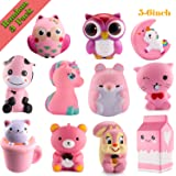 WATINC Kawaii 3 pcs random Jumbo pink-Squishy Slow Rising Sweet Scented Vent Charms Kid Toy Hand Toy, Stress Relief Toy Toy hop props, decorative props Doll Gift Fun Large(3 pcs pink-Squishy)