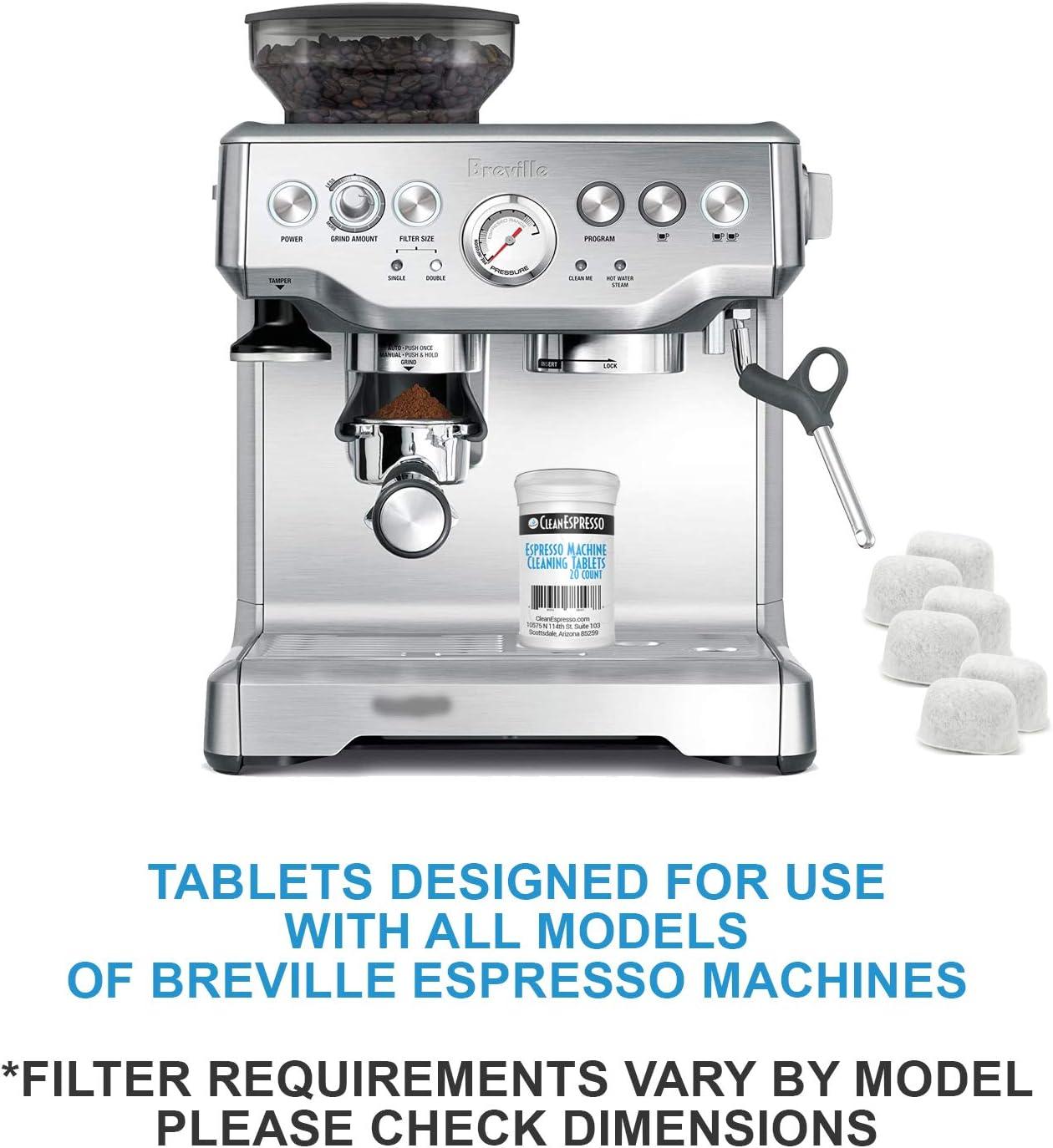 Breville Espresso Machine pastillas de limpieza + Bonus Filtro ...