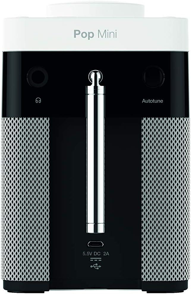 Blanco DAB//DAB+ digital y FM, radio por Internet con Bluetooth, control de volumen pop, alarma, cocina y temporizador para dormir Pure Radio POP Maxi BT