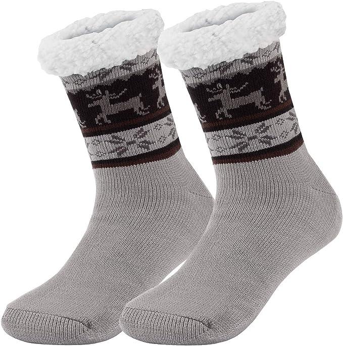 Ferocity Hombre Calcetines térmicos ricos en algodón para resbalón para el invierno Modelo 2 [033]: Amazon.es: Ropa y accesorios