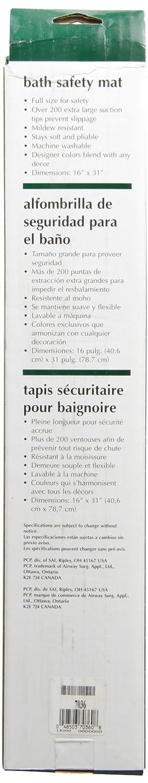 PCP Bathtub Safety Mat 16 X 31 Inch Ivory