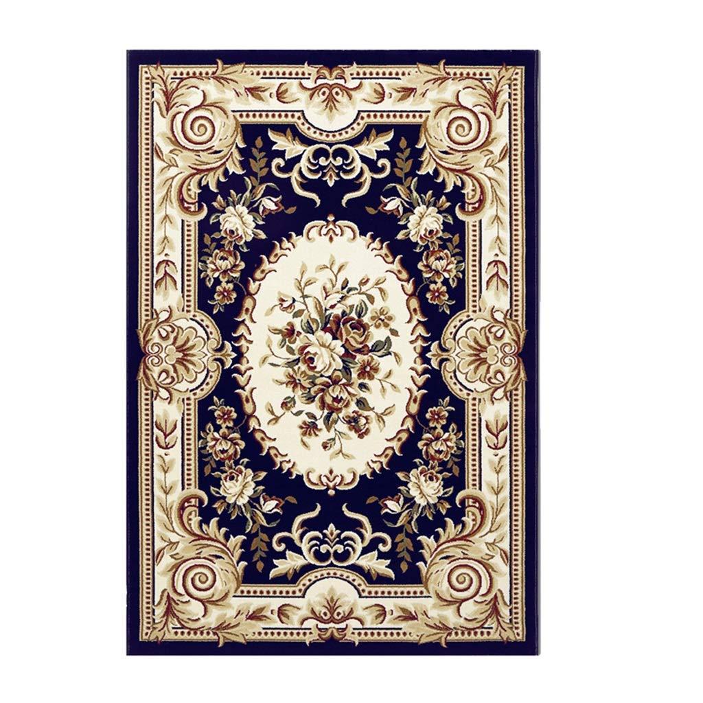 シャギー敷物、リビングルーム、敷物寝室ヨーロッパスタイルのリビングルームソファコーヒーテーブルマット寝室フルカーペットベッドサイド毛布ホームブルーカーペット(色:B、サイズ:1.3× 1.9m) B07QQX86F1