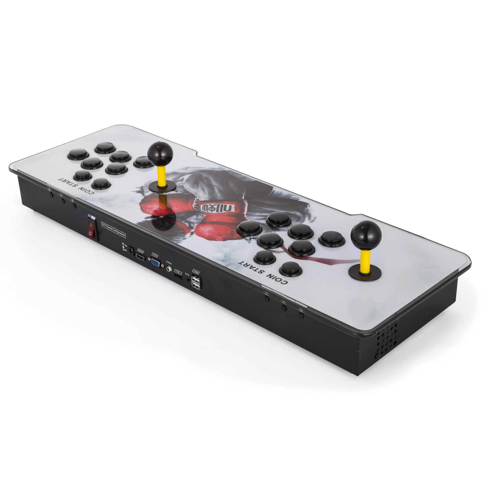 Happybuy Video Game Console, Arcade Machine Over 1500 Latest Classic Games, 2 Players Pandora's Box 9S Multiplayer Home Arcade Console Games All in 1 Non-Jamma PCB Double Stick Newest Design Power HDM by Happybuy (Image #7)