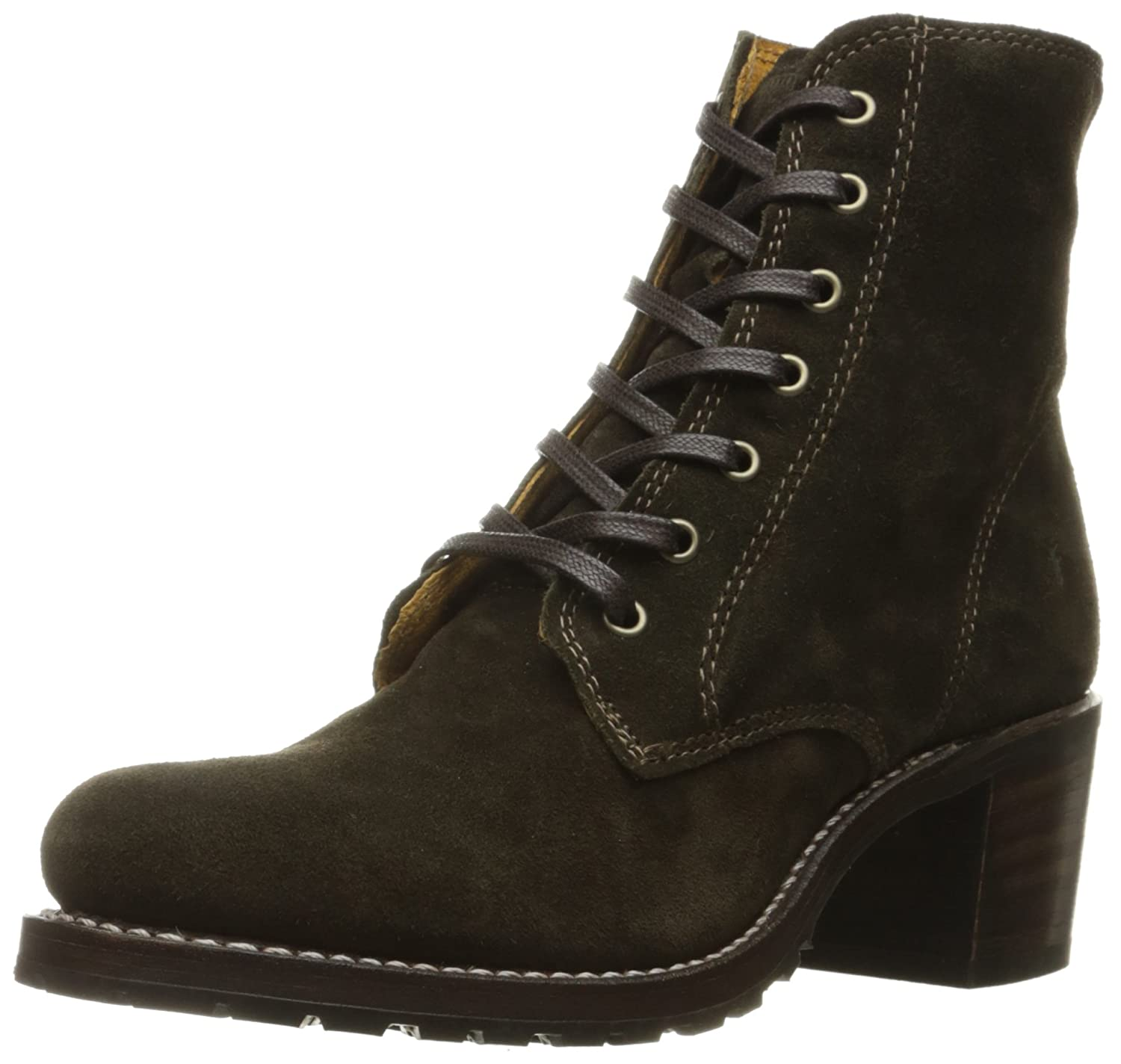 FRYE Women's Sabrina 6G Lace up Suede Boot B019448S42 6.5 B(M) US|Fatigue
