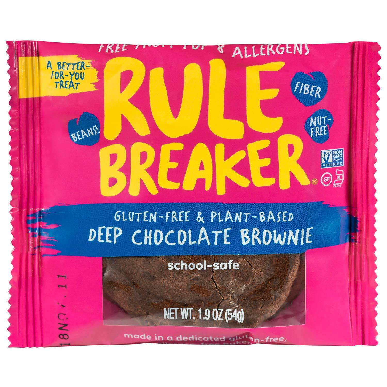 Rule Breaker Snacks, Deep Chocolate Brownie, Healthy and Unbelievably Delicious, Vegan, Gluten Free, Nut Free, Allergen Friendly, Kosher (12ct pack) by Rule Breaker (Image #2)