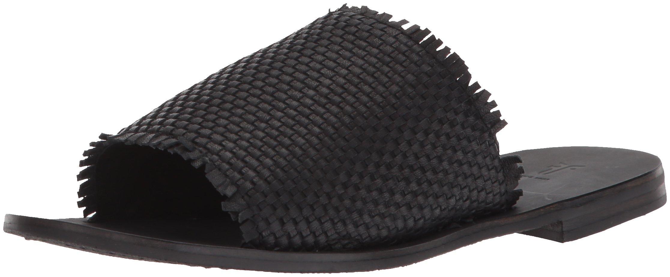 FRYE Women's Riley Woven Slide Sneaker, Black, 10 M US