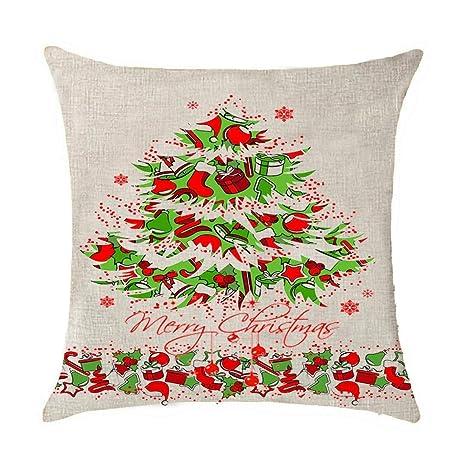 Babydo Funda de cojín Merry Christmas Elk Árbol de Navidad ...