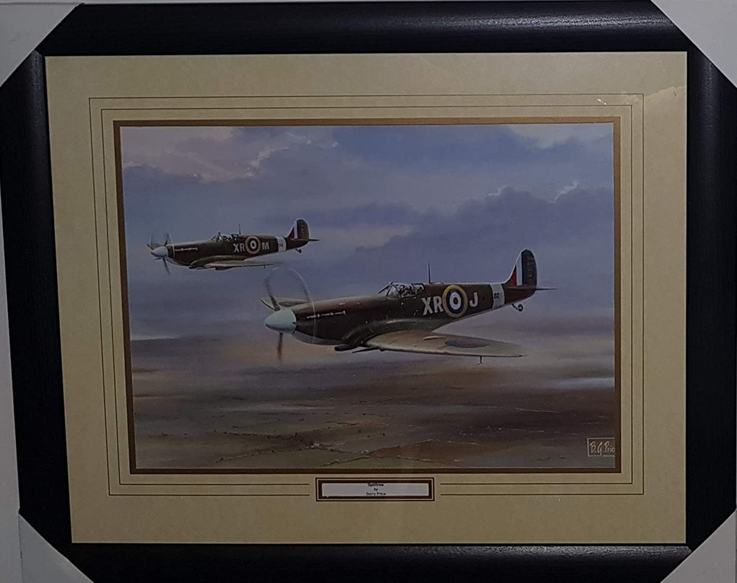Lancasters 97 Squadron by Barry Price Official Framed /& Mounted Art Print Brand New