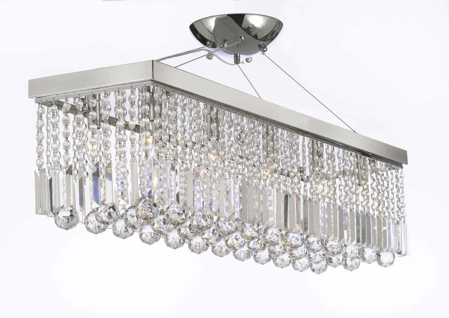 10 Light 40  Contemporary Crystal Chandelier Rectangular Chandeliers Lighting - - Amazon.com  sc 1 st  Amazon.com & 10 Light 40