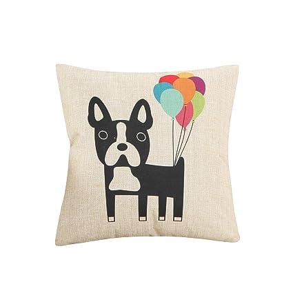 Amazon.com: Funif Funda de cojín para perro y flor, funda de ...