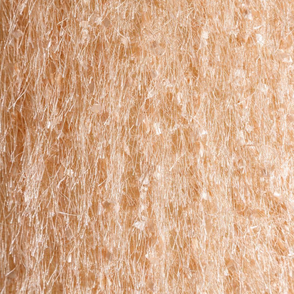 L/ámpara de pie con pantalla de flecos contempor/ánea de cristal en oro rosa LOLAhome de /ø 43x164 cm