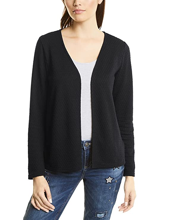 Short Structured Jacket, T-Shirt Manches Longues Femme, Schwarz (Black 10001), 40 (Taille du Fabricant: 38)Street One