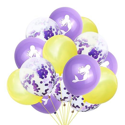 Globos de sirena, globos de confeti Geila para fiesta de ...
