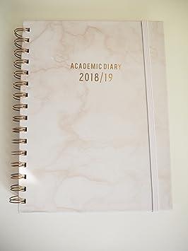 Marble Print 2018/19 - Agenda escolar: Amazon.es: Oficina y ...