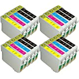 AA+inks 20x Compatible Ink Cartridges Replacement for Epson TO715 T0715 ET0711 T0712 T0713 T0714 Printing Inkjet Cartridges (4 Full Sets + 4 Extra Black)