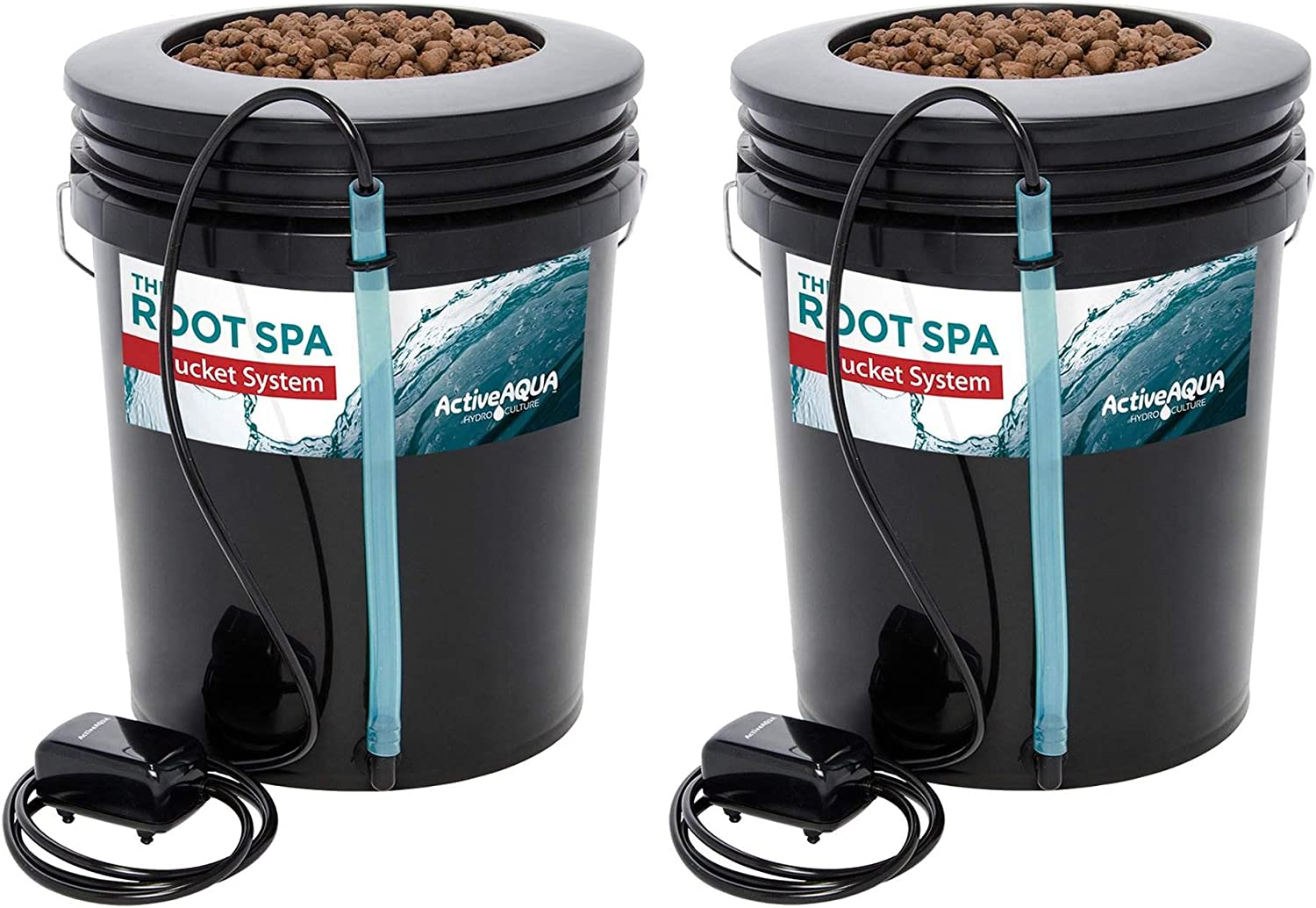 Active Aqua RS5GALSYS Root Spa 5 Gallon Hydroponic Bucket Grow Kit System (2 Pack)