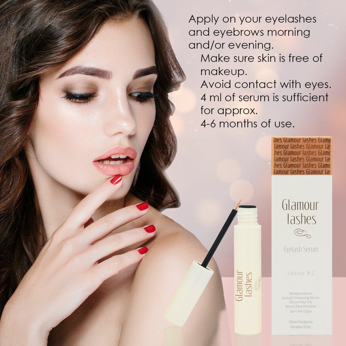 Eyelash Serum 4 ml. Glamor Lashes Edition #2 MADE IN GERMANY I Eyelash Booster I Eyelash Growth Serum |Eyelash Activating Serum by Vitavelle Beauty (Image #6)