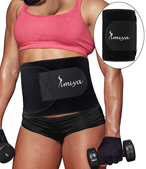 Exercise & Fitness Waist Trimmers Waist Trimmer Belt Sweat Belt Weight Loss Adjustable Slimming Body Belt with Back Support Belly Fat Burner and Lumbar Support for Pain Relief in Gym Workout