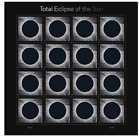 USPS Total Eclipse of the Sun Forever Stamps Sheet of 16 - New 2017 Release
