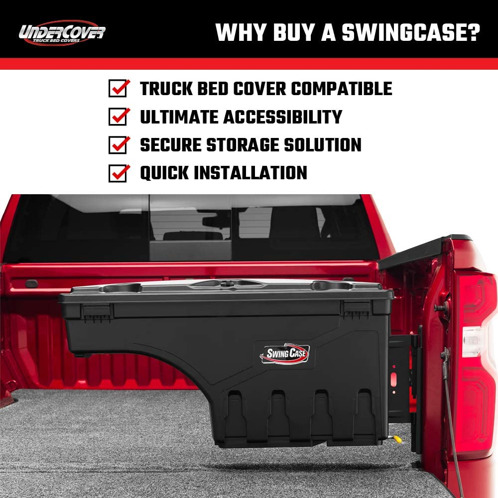 SC302D Undercover SwingCase Truck Bed Storage Box Fits 19-20 Dodge Ram 1500-2500 Drivers Side 1500-2500