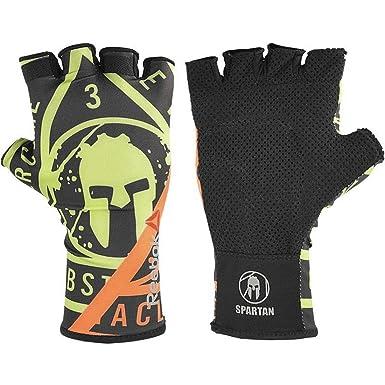8d166db2cbcb Reebok crossfit black yellow spartan mens weightlifting training gloves M   Amazon.co.uk  Clothing