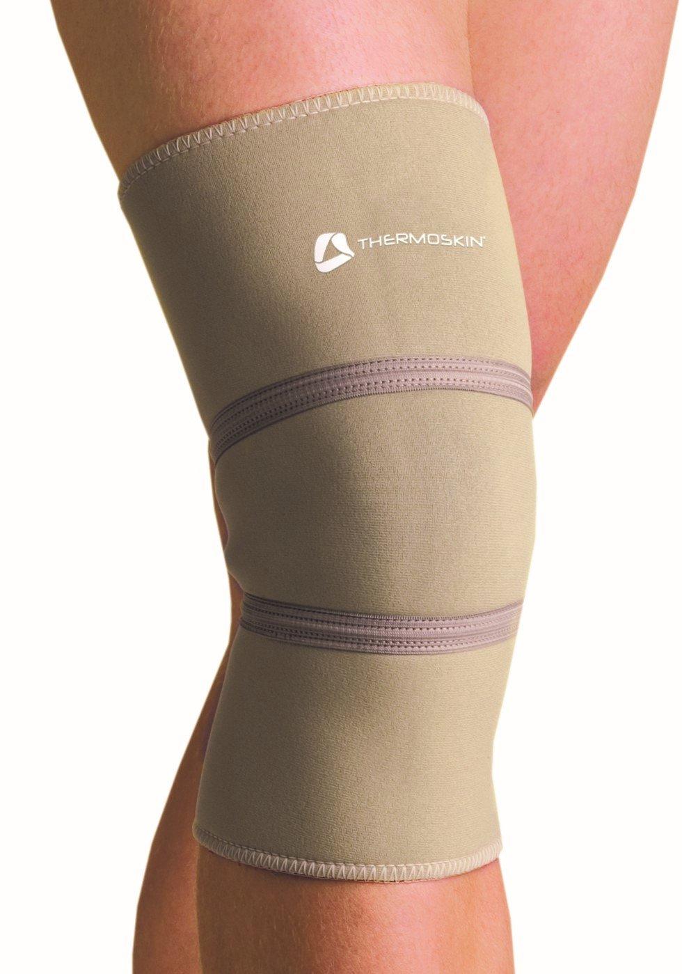 Thermoskin–Rodillera térmica–X Grande de 39,5–41cm (Medida debajo rodilla con tapa en la rodilla ligeramente dobladas)