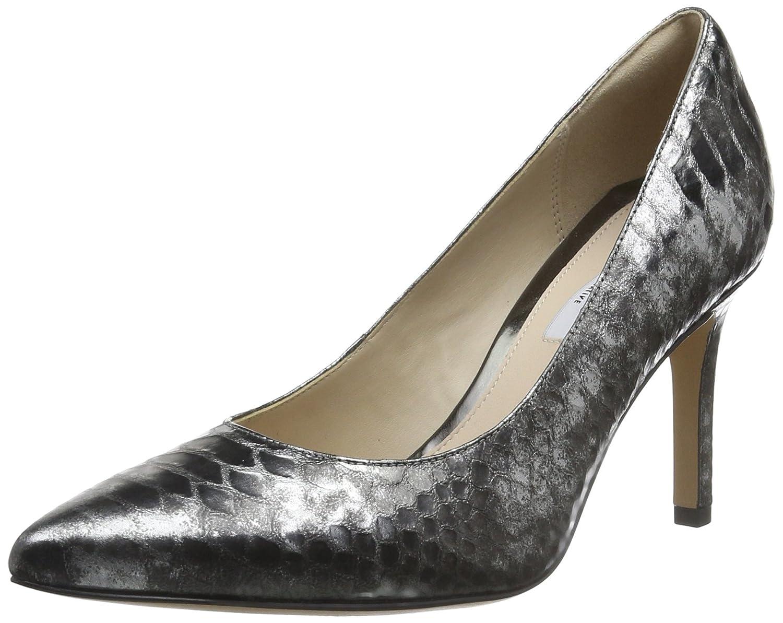 Clarks Dinah Keer, Zapatos de Tacón para Mujer 37 EU|Gris (Silver Metallic)