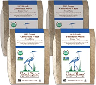 product image for Great River Organic Milling, Bread Flour, Unbleached Wheat, Organic, 5-Pounds (Pack of 4)