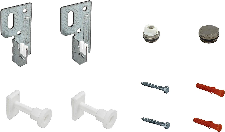 2 Halter mit Stopfen HK Befestigung Kompakt Heizk/örper mit Halterung Wand Konsole Wahlweise 2 oder 3 Halter sowie optional mit Entl/üfter