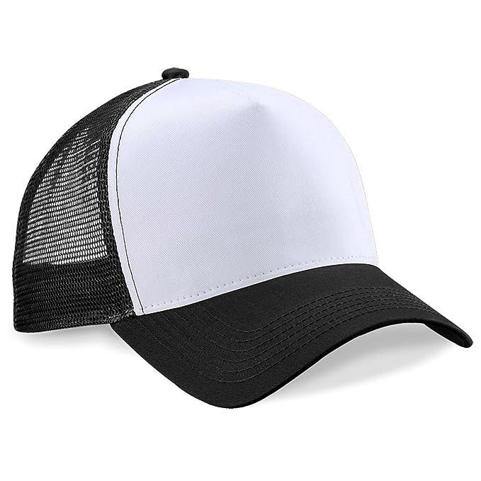 671bcf6a6f4 Beechfield Mens Half Mesh Trucker Cap   Headwear  Amazon.co.uk ...