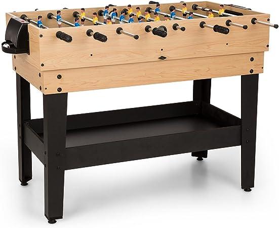 Oneconcept Game-Star - Mesa de Juegos , Mesa multifunción , Incluye 15 Juegos Diferentes , Futbolín , Patas de la Mesa con Altura Regulable , Reglas de Juego detalladas , Medidas: 105