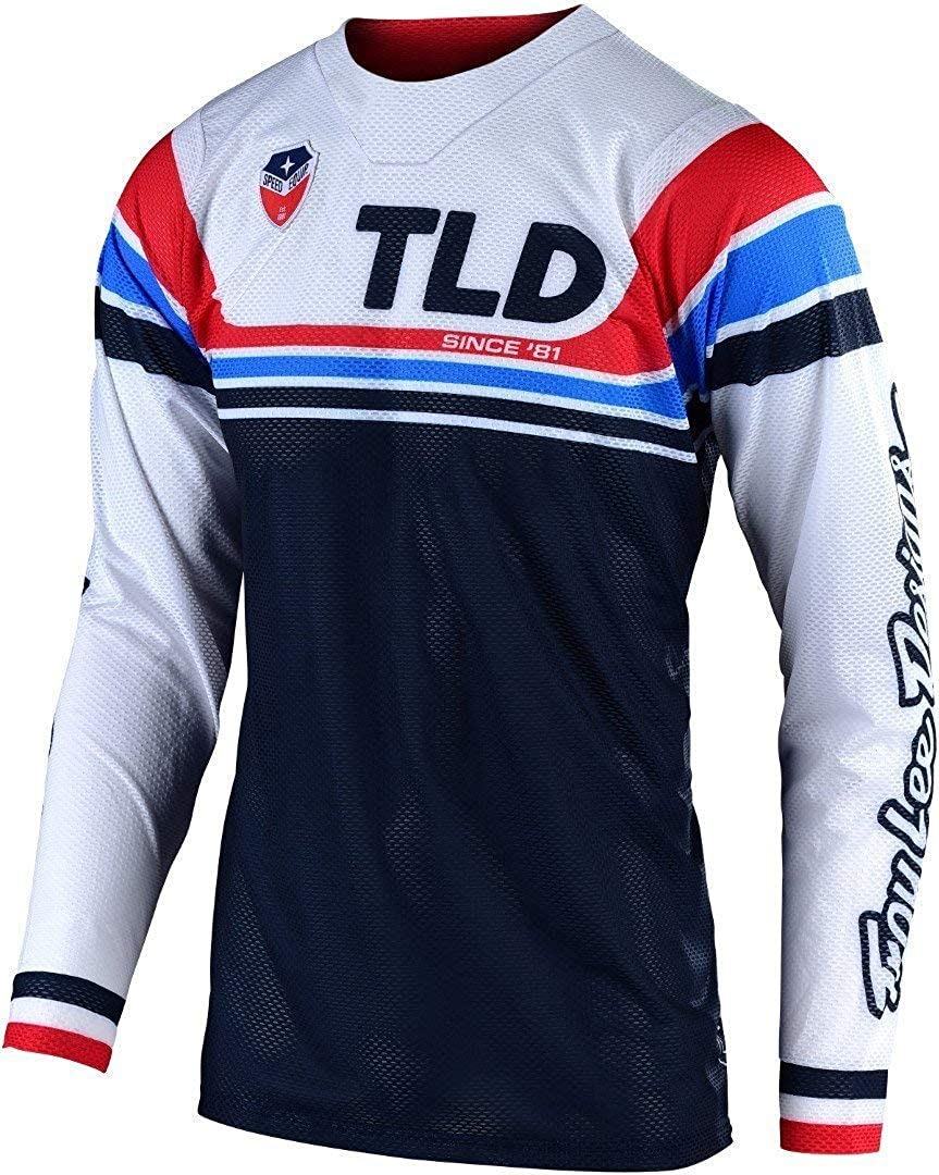Troy Lee Designs Mens Offroad Motocross SE AIR Seca Jersey Small, White//Dark Navy