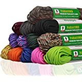 Wealpe 9 Strand Paracord 4mm Parachute Cord 31m Tent Rope Type III Mil Spec Survival Cord
