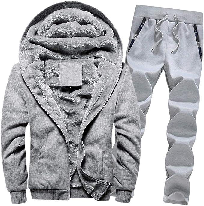 Conjunto de chándal para Hombre de Invierno, Pantalones de Deporte ...