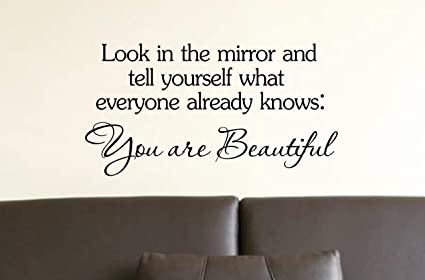 Amazon Look In The Mirror And Tell Yourself What Everyone