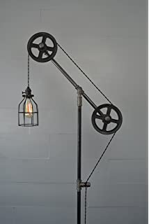 Industrial floor lamp amazon industrial floor lamp steel wheels aloadofball Image collections
