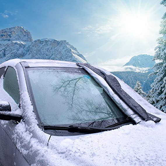 Honcenmax Windschutzscheibenabdeckung Für Auto Schützt Auto Vor Sonne Frost Schnee Eis Wasserdichter Winddichter Staubdichter Schutz Im Freien Passt Am Meisten Auto Suv Lkw Van Auto