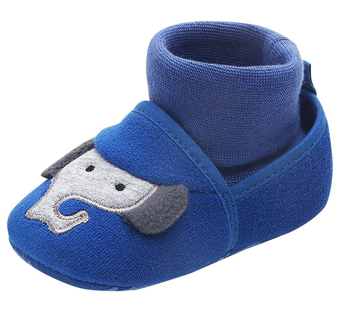 416ae04d0ee95 Tongyouyuan Chaussures Bébé Fille Garçon avec Semelles Souples Epais  Antidérapant Chaussons Premier Pas Mignon pour Enfant