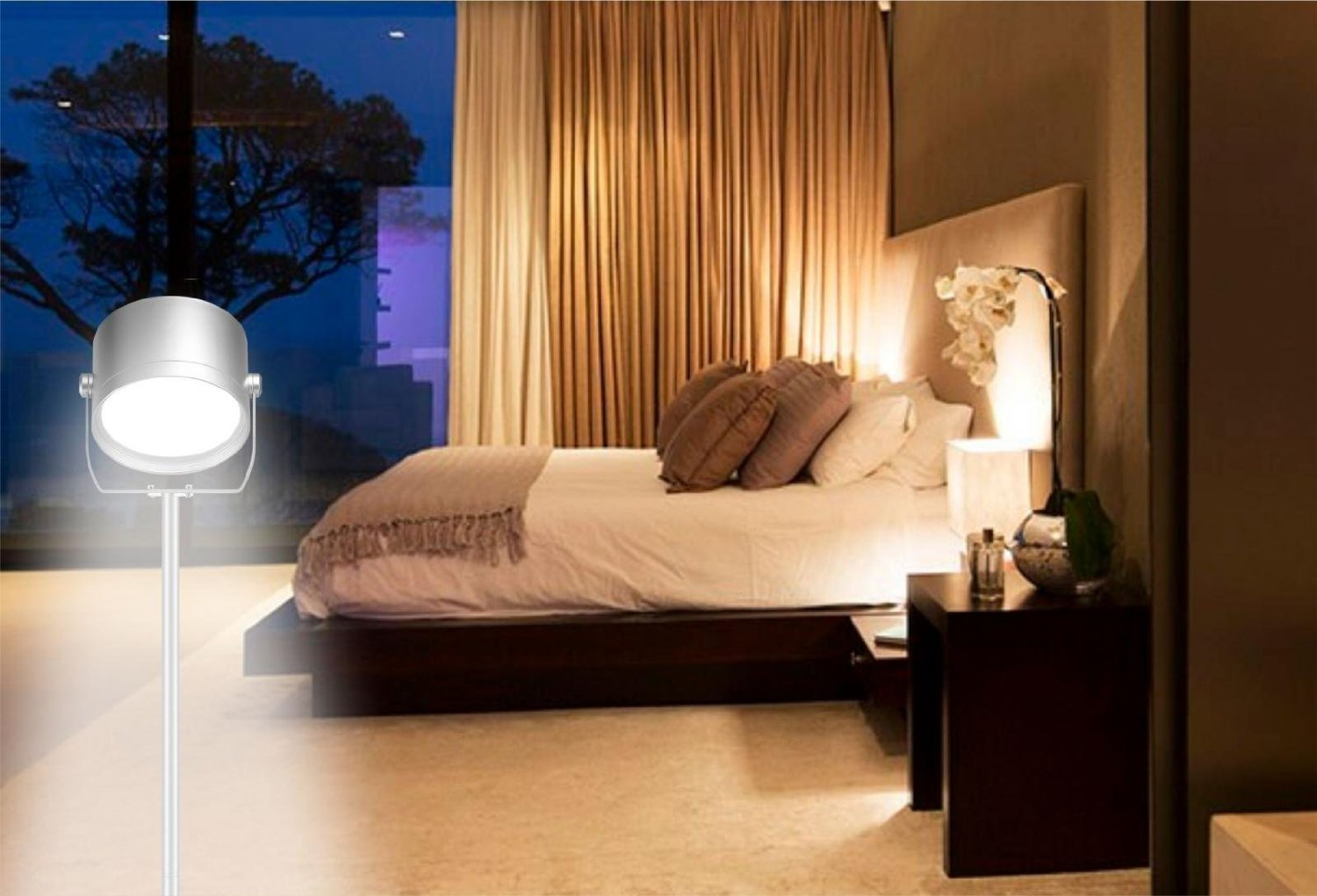 Living Room Bedroom Oxyled Oxyread F10 Remote Control Led Floor Lamp For Living Room