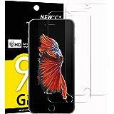 Verre Trempé iPhone 6 / 6S, [ Pack de 2 ] NEWC® Film Protection en Verre trempé écran Protecteur Vitre- ANTI RAYURES - SANS BULLES D'AIR -Ultra Résistant Dureté 9H Glass pour iPhone 6 / 6S
