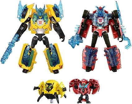 Transformers TAV44 Bumblebee /& Side Swipe Supreme Armor Set