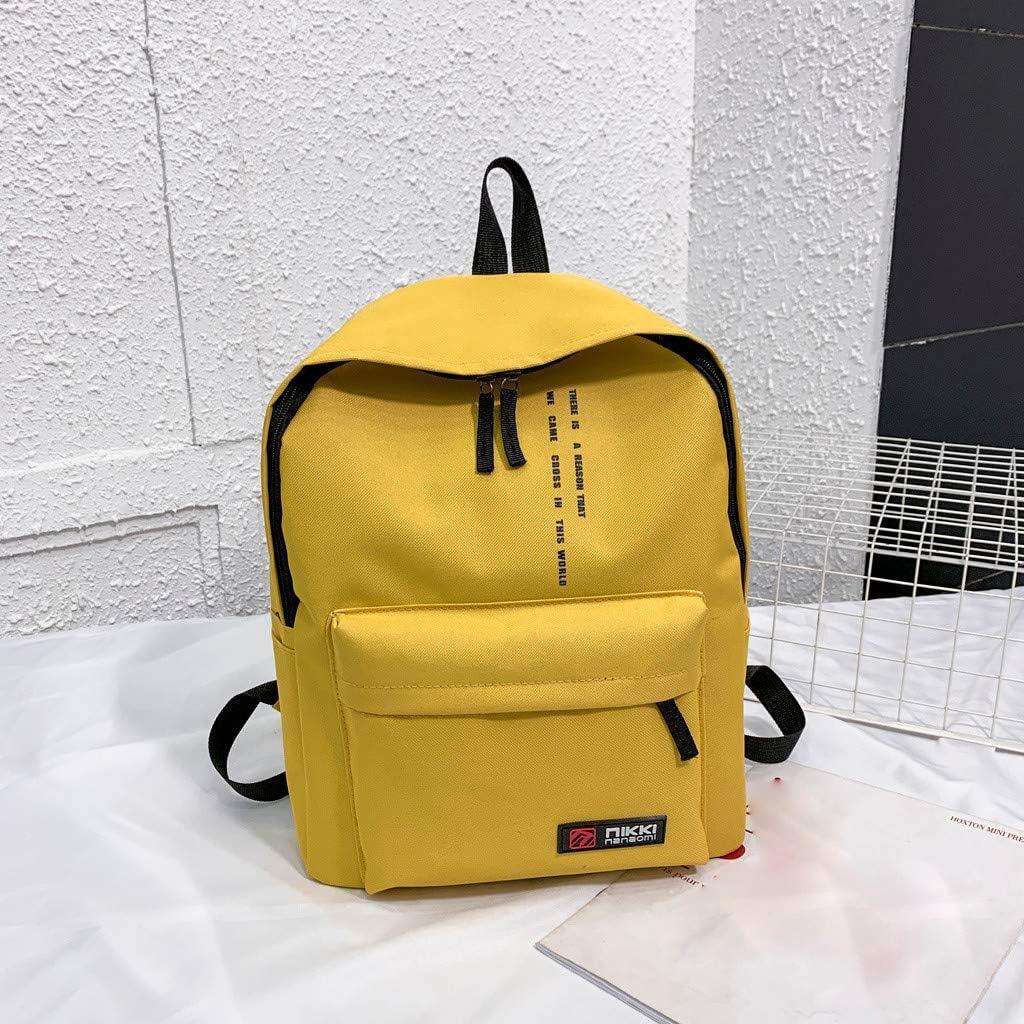 DreamedU Girl Fashion Canvas Cute College School Travel Computer Laptop Backpack for Women Shoulder Bag for Women