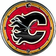 WinCraft NHL Calgary Flames Chrome Clock