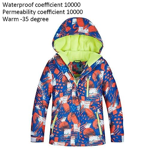 LeKing Tuta da Sci per Bambini Pantaloni Invernali da Neve Impermeabili Caldi da Sci per Bambini
