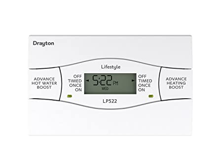 drayton lp522 lp522 5 2 day heating and hot water programmer channel rh amazon co uk