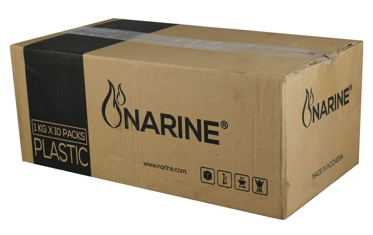 Narine 10KG Box Coconut Charcoal Lounge Case - Cubes