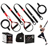RitFit Bodyweight Resistance Training Kit with Integrated Door Anchors and Extension Strap, Fitness Straps for Total…