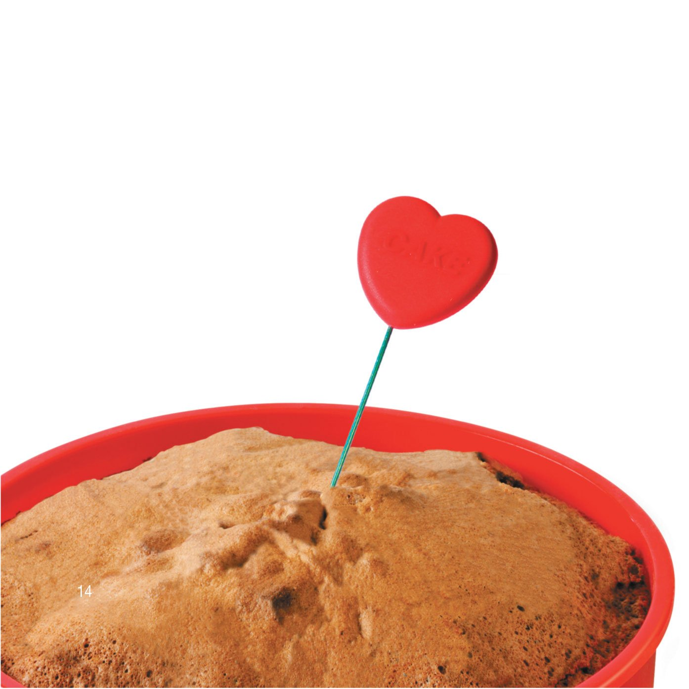Zeal Perfectly Baked Heart-theme 8 Cake Tester w// Cover