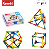Goobi 70 Piece Construction Set Building Toy Active Play Sticks STEM Learning Creativity Imagination Children's 3D Puzzle Educational Brain Toys Kids Boys Girls Instruction Booklet